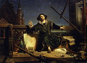 The astronomer Copernicus: Conversation with God. Painting by Jan Matejko