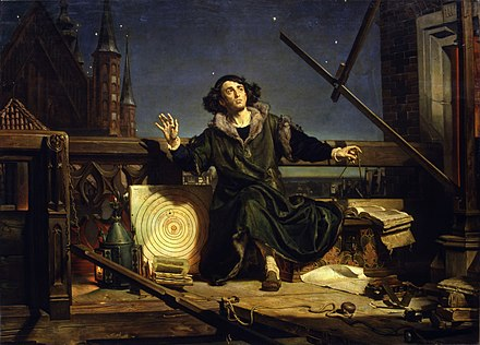 May: Nicolaus Copernicus. Jan Matejko-Astronomer Copernicus-Conversation with God.jpg