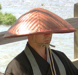 Straw hat - A Straw hat worn by a Japanese buddhist monk