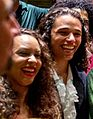 Jasmine Cephas Jones and Anthony Ramos in Hamilton costume, July 2015.jpg