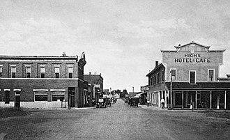 Jasper, Florida - Downtown Jasper around 1928.