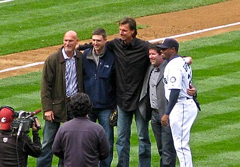 Jay Buhner Dan Wilson Randy Johnson Edgar Martinez Ken Griffey Jr