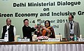 "Jayanthi Natarajan releasing a book ""Sustainable Development in India"" at the Ministerial Dialogue on ""Green Economy and Inclusive Growth"".jpg"