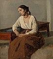 Jean-Baptiste-Camille Corot - Melancholy Italian Woman (Rome) (Italienne mélancolique (Rome)) - BF964 - Barnes Foundation.jpg