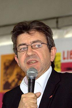 Jean-Luc Mélenchon à la Fête de l'Humanité, en 2008