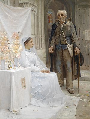Socioeconomic status - An 1880 painting by Jean-Eugène Buland showing a stark contrast in socioeconomic status