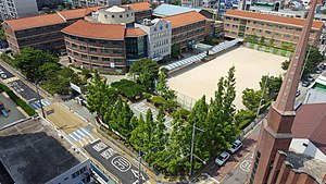 Jeonju Sergok Elementary School, Photographed in the 14th Floor of an Sergok Chungsol apartment.jpg