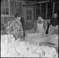 Jerome Relocation Center, Denson, Arkansas. In a makeshift soap factory, at the Jerome Center, Mrs. . . . - NARA - 539308.tif