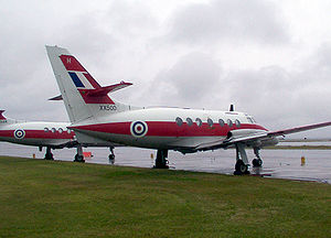 RAF Finningley - Jetstream T1 training aircraft