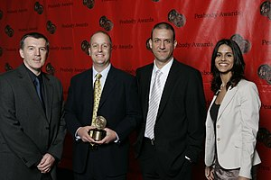Nova (TV series) - Joe McMaster and the crew of NOVA-Judgement Day at the 67th Annual Peabody Awards