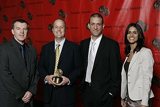 Nova (TV series) - Joe McMaster and the crew of NOVA-Judgement Day at the 67th Annual Peabody Awards