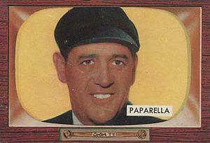 Joe Paparella - Paparella's 1955 baseball card