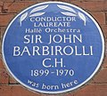 John Barbirolli Southampton Row blue plaque.jpg