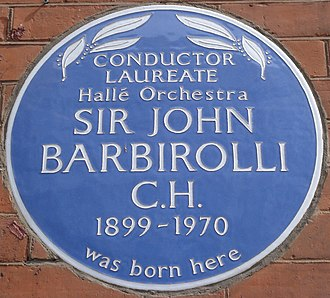 John Barbirolli - Southampton Row blue plaque
