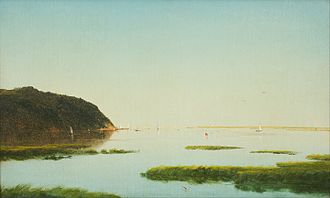 Shrewsbury River - View of the Shrewsbury River, New Jersey by John Frederick Kensett, 1859