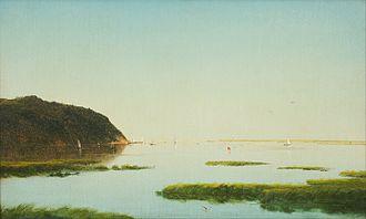 Luminism (American art style) - View of the Shrewsbury River, an 1859 luminist painting by John Frederick Kensett
