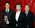 John Goldwyn, Sara Colleton and Jeff Lindsay at the 67th Annual Peabody Awards for Dexter.jpg