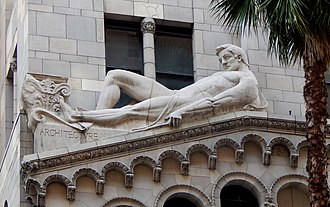 Fine Arts Building (Los Angeles) - Image: Johnson burt fine arts building facade architecture 1