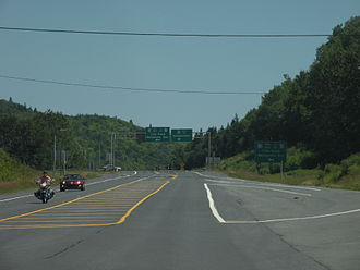 New Brunswick Route 11 - Route 11's intersection with Route 17, in Glencoe.