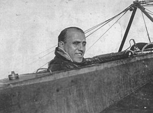 Jorge Newbery - Newbery in his plane, c. 1912–1914.