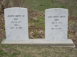 Lucy Mack Smith - Grave of Joseph Sr. and Lucy Mack Smith, Nauvoo IL