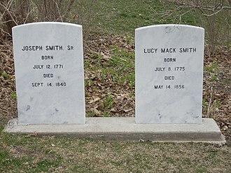 Joseph Smith Sr. - Grave of Joseph Sr. and Lucy Mack Smith