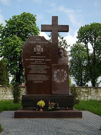 Józef Franczak - Józef Franczak's monument in Piaski, Poland, 2008