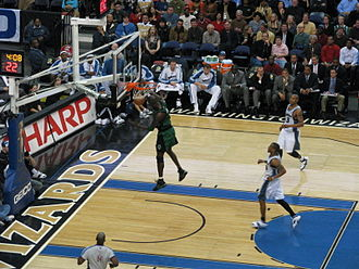 Kevin Garnett - Garnett dunking a ball in a game against the Washington Wizards.