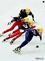 KOCIS Korea ShortTrack Ladies 3000m Gold Sochi 03 (12629372455).jpg