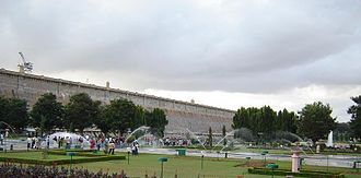 Brindavan Gardens - Krishnarajasagara Dam and the adjoining Brindavan Gardens