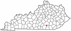 Location of Burnside, Kentucky