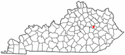 Location of Stanton, Kentucky