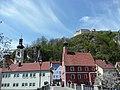 Kallmünz Naabbrücke, Pfarrkirche St.Michael und Burgruine - panoramio.jpg