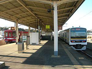 Kashimajingū Station - Platform of Kashimajingū Station