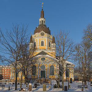 Katarina Church - January 2013 view of Katarina kyrka from outside