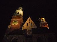 KatedraWawelska-Noc-POL, Kraków.jpg