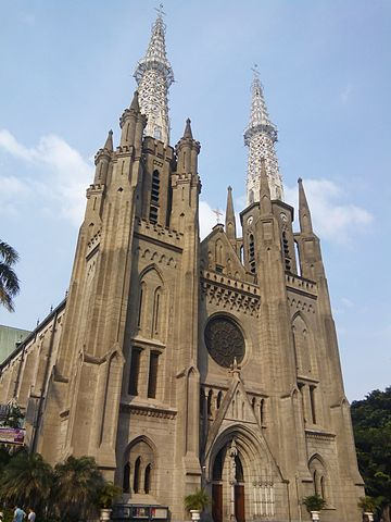 The Jakarta Cathedral, metropolitan see of the Archbishop of Jakarta.