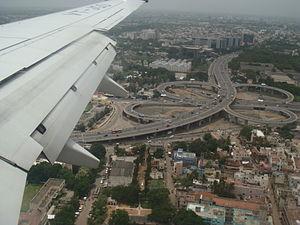 Kathipara Junction - Image: Kathipara Junction Bird Eye View