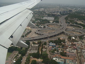 Kathipara Junction - Image: Kathipara Junction Bird Eye View