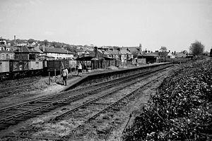 Kelvin Valley Railway - Disused Kilsyth station in 1958