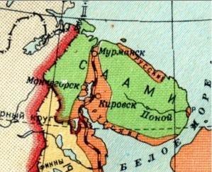 Kildin Saami map