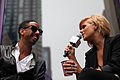 Kimberly Caldwell, Ryan Leslie at Yahoo Yodel 1.jpg