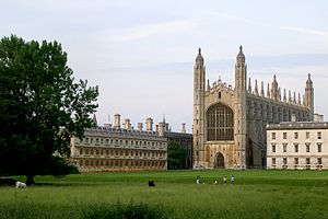 Queen's Road, Cambridge - View of King's College from The Backs.