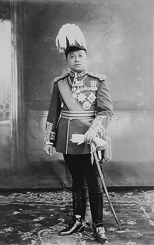 Siam in World War I - King Vajiravudh (or Rama VI) dressed in a uniform of a British General in 1917.