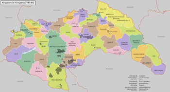 History of hungary wikipedia a map of the kingdom of hungary in 1941 gumiabroncs Choice Image
