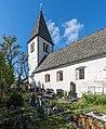 Klagenfurt Seltenheim Filialkirche hl Andreas S-Seite und Friedhof 05102015 7937.jpg