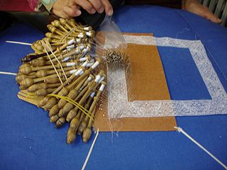 Binche lace type of bobbin lace