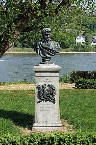 Max von Schenkendorf - Image: Koblenz im Buga Jahr 2011 Rheinanlagen 25