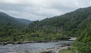 Kohaihai River at the end of Heaphy Track in Kahurangi National Park.jpg