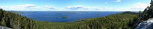 Pielinen - Lake Pielinen, a view from a hill in Koli National Park